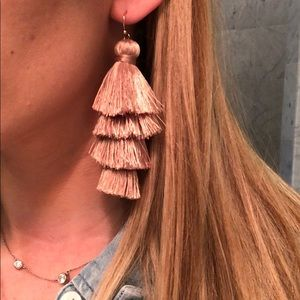 Club Monaco pink mauve tassel earrings